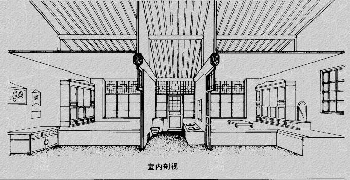 古典房子图片手绘图片