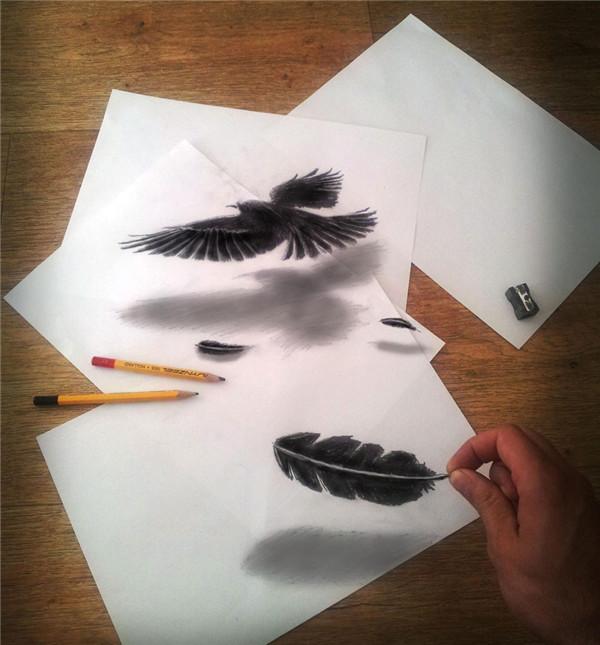30张图看铅笔下的3D绘画图片